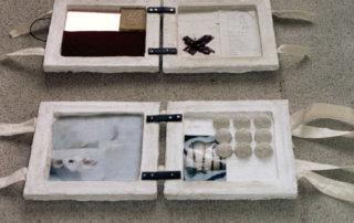 Amulett–Vorbilder, Mischtechnik, 5-teiliges Objekt, 2008