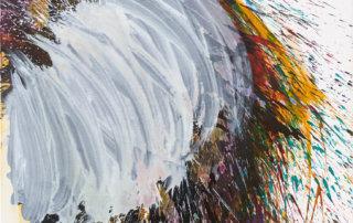 CLOUD, Titanweiß, Tusche und Acryl auf LW, 140 x 100 cm, 2017