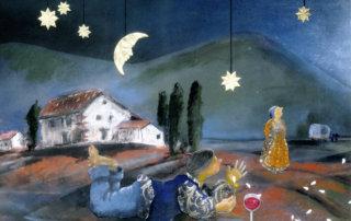 """Illustration von Bettina Rulf für """"Auch die Seele, sie singt"""" von W. F. Rauh"""