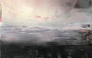 Der Himmel und das Meer ist nicht immer blau, Mischtechnik, Lw., Mischtechnik auf Lw., 100 × 80 cm, 2017
