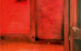 Rot, aus der Serie Räume, 2017, Öl auf Leinwand, 80 x 100 cm
