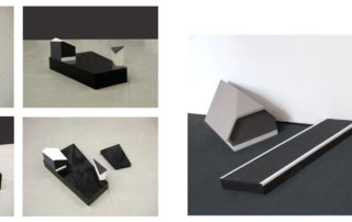 Die junge Siedlung, 2010, verschiedene Materialien, Holz, mdf, Öl, ca.70 x 50 cm und 30 x 40 cm