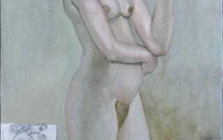 Gisela Breitling, Auf der Staffelei, 89,5 x 79,5 cm, Öl auf Leinwand, 2006