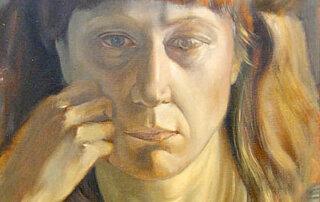 Gisela Breitling, Porträt Gisela Zies, Öl auf Leinwand, 34,5 x 30 cm, 1973