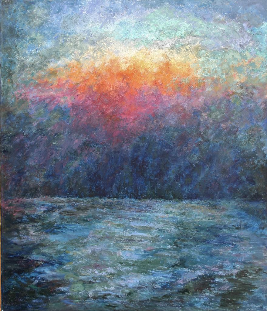 Sonnenuntergang bei Sotschi, Öl auf Leinwand, 140 x 120 cm, 1984