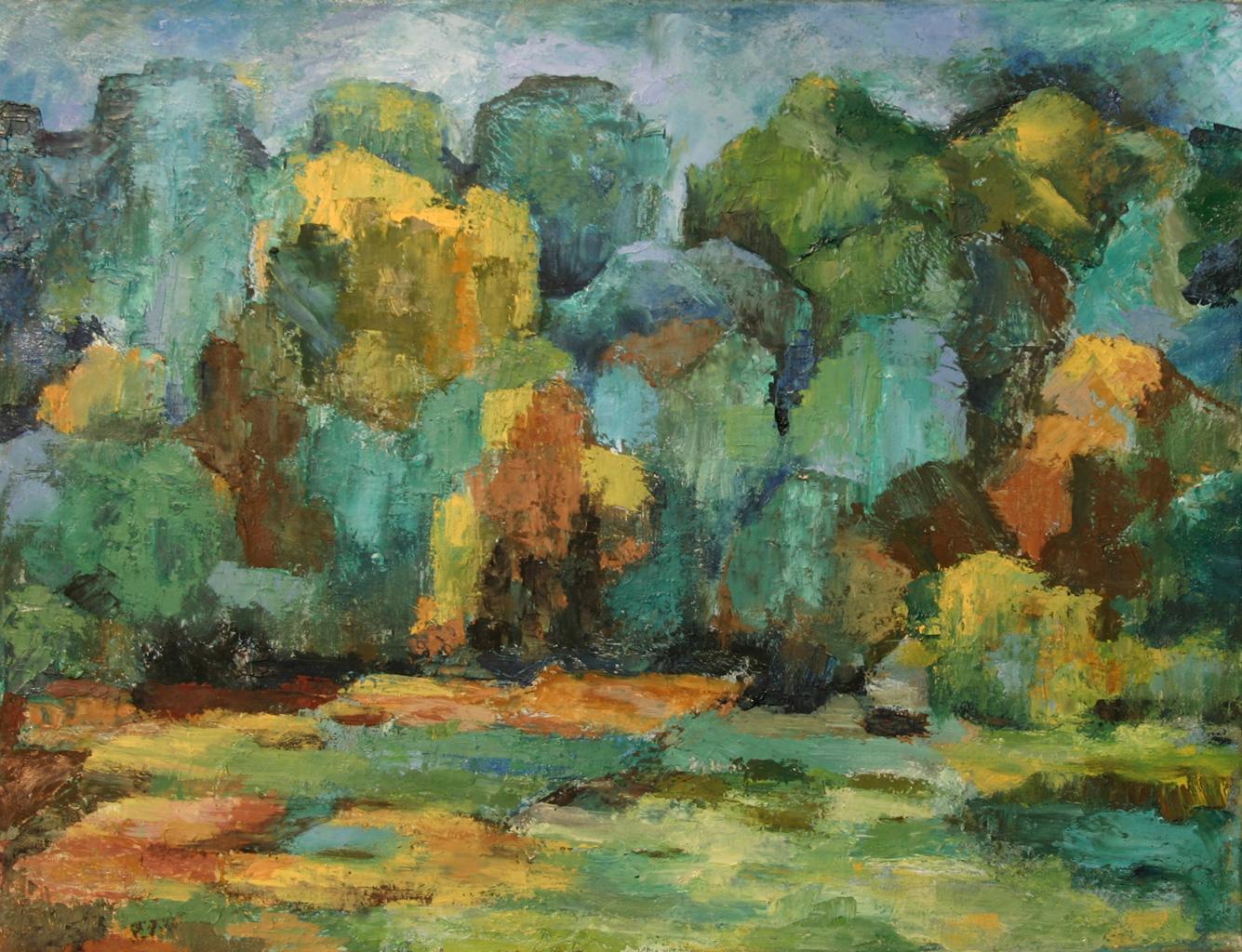 Bucher Wald, Öl auf Leinwand, 50 x 65 cm, 1998