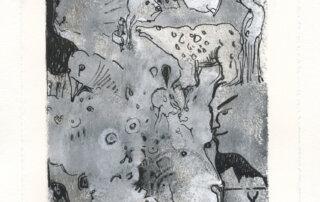 Marianne Schröder, Hexenbild IV, Acryl und Tusche, 21 x 12 cm, 2019