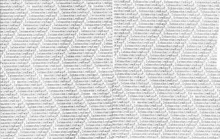 Anett Lau, Denkmuster, Typewriting, 30 x 40 cm, 2018