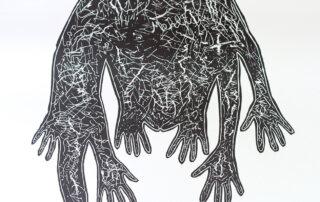 Hildegard Skowasch, ohne Titel, Linolschnitt, 170 x 120 cm, 2018