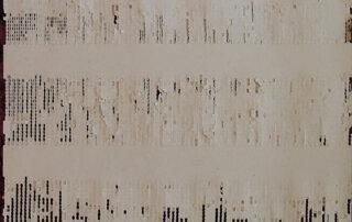 Anett Lau, Topos I, zweischichtiger Papierschnitt, Schreibmaschiene auf ddr Büropapier, 21 x 29,7 cm, 2015