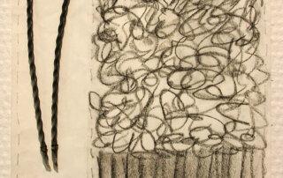 Hrafnildur Sigurdardottir, Excellent V, Materialcollage auf Papier, 20 x 22 cm, 2020