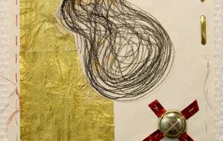 Hrafnildur Sigurdardottir, Excellent II, Materialcollage auf Papier, 20 x 22 cm, 2020