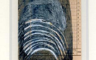 Stephanie Krumbholz, Spring, Mischtechnik auf Karteikarte, 18 x 10,5 cm, 2019