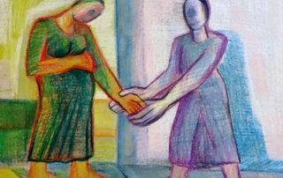 Yerma – zu Federico Garcia Lorca, 1982. Ölkreide auf Papier, 61 x 86 cm